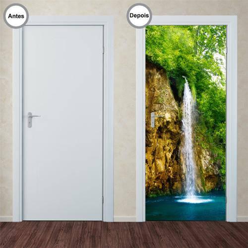Adesivo Decorativo de Porta - Cachoeira - 054pt