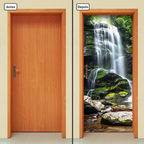 Adesivo Decorativo de Porta - Cachoeira - 251cnpt