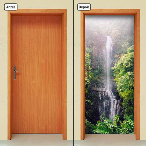 Adesivo Decorativo de Porta - Cachoeira - 360cnpt