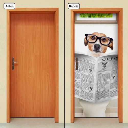 Adesivo Decorativo de Porta - Cachorro - 1573cnpt