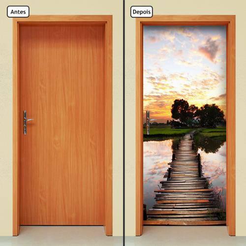 Adesivo Decorativo de Porta - Caminho - 043cnpt