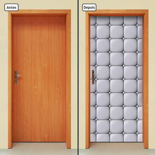 Adesivo Decorativo de Porta - Capitone - 385cnpt