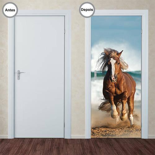 Adesivo Decorativo de Porta - Cavalo - 217pt