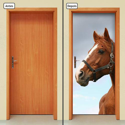 Adesivo Decorativo de Porta - Cavalo - 267cnpt