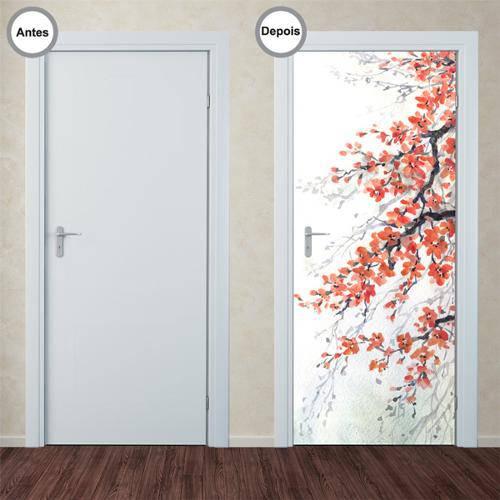 Adesivo Decorativo de Porta - Cerejeira - 026pt