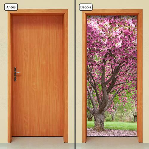 Adesivo Decorativo de Porta - Cerejeira - 376cnpt