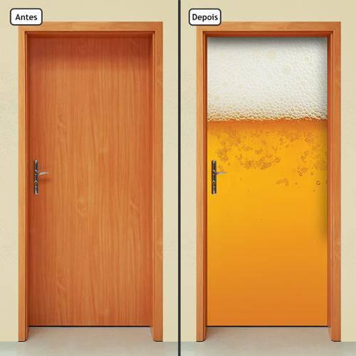 Adesivo Decorativo de Porta - Cerveja - 527cnpt
