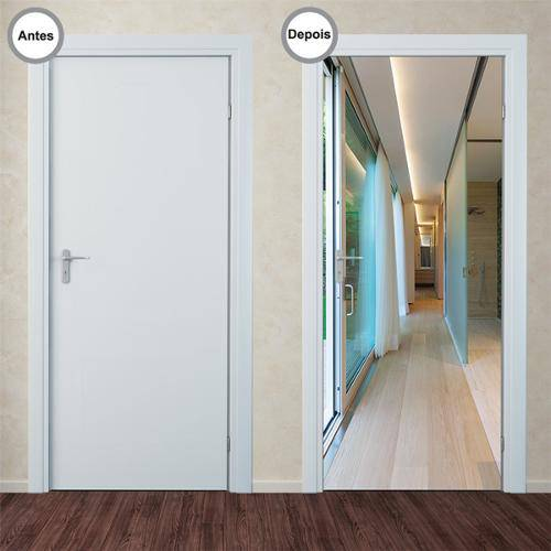 Adesivo Decorativo de Porta - Corredor - 260pt