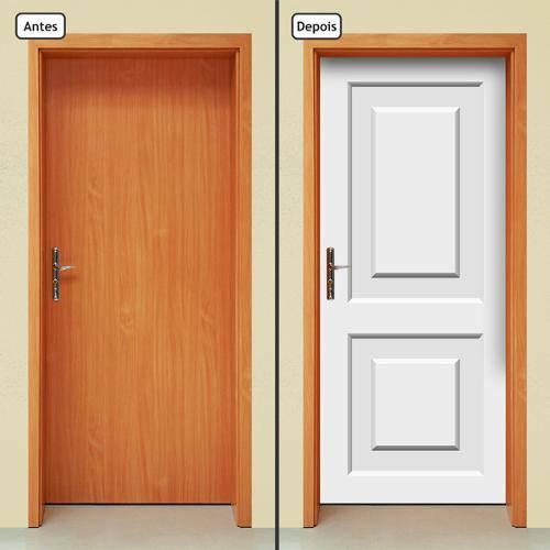 Adesivo Decorativo de Porta - Porta Branca - 695cnpt