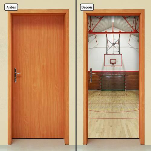 Adesivo Decorativo de Porta - Quadra - Basquete - 392cnpt
