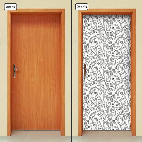 Adesivo Decorativo de Porta - Salão de Beleza - 503cnpt
