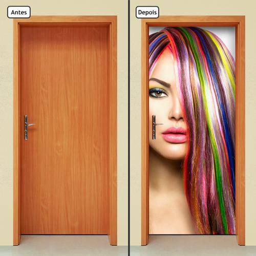 Adesivo Decorativo de Porta - Salão de Beleza - 553cnpt
