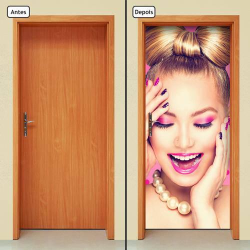 Adesivo Decorativo de Porta - Salão de Beleza - 843cnpt