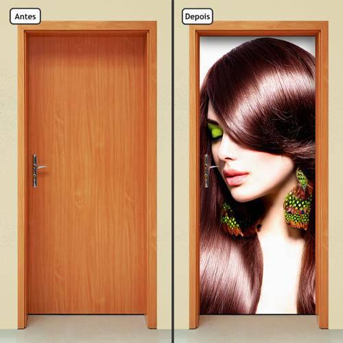 Adesivo Decorativo de Porta - Salão de Beleza - 865cnpt