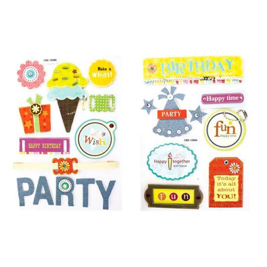 Adesivo Decorativo Festa 2 Unidades AD1206 - Toke e Crie