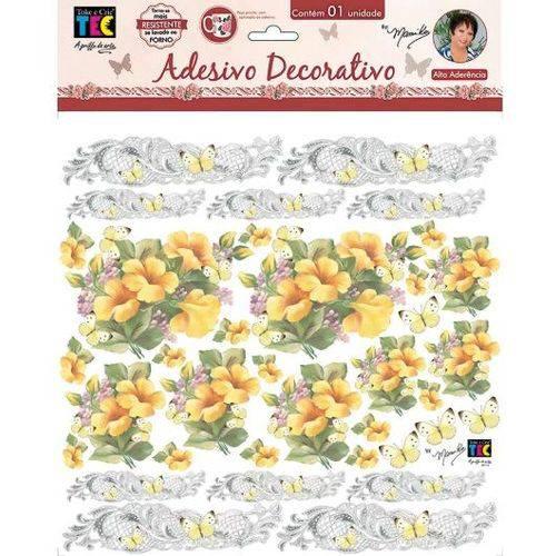 Adesivo Decorativo Hibiscos Amarelo By Mamiko TDM19 20645