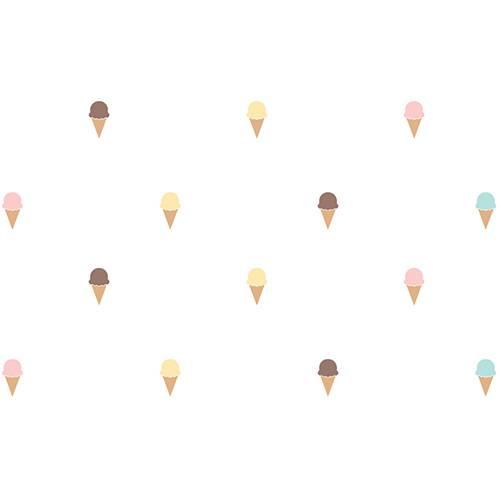 Adesivo Decorativo Infantil Stixx Sorvetinhos Colorido com 40 Unidades (7x13cm)