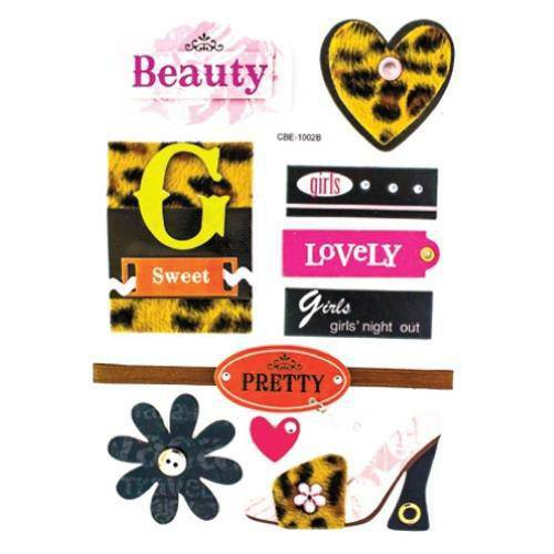 Adesivo Decorativo Meninas Sapato AD1203 TEC