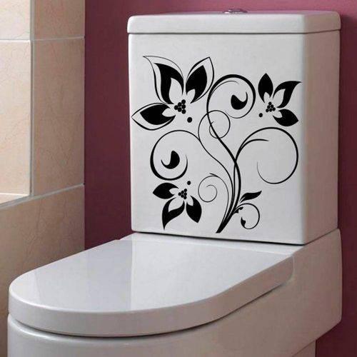 Adesivo Decorativo para Banheiro Floral Radiante
