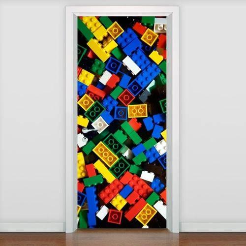 Adesivo Decorativo para Porta Brinquedo Lego