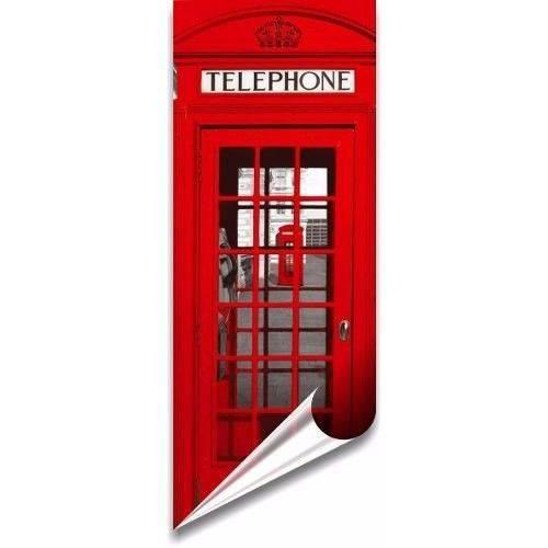 Adesivo Decorativo para Porta Londres Cabine Telefonica