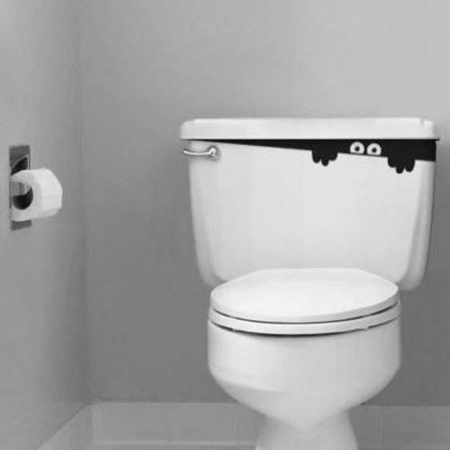 Adesivo Decorativo para Vaso Banheiro Espião