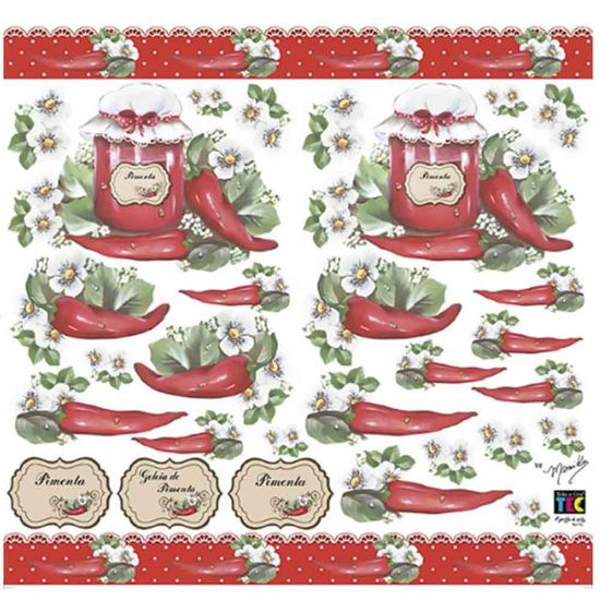 Adesivo Decorativo Toke e Crie TDM-020 Pimentas e Rótulos By Mamiko