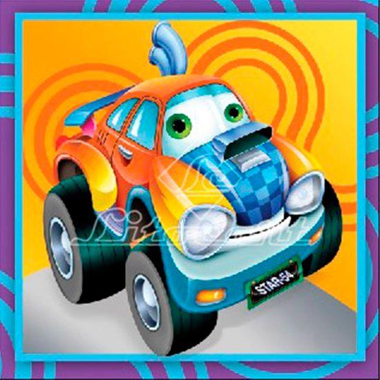 Adesivo Decoupage com Glitter Litocart 10x10 LAXG-033 Carro