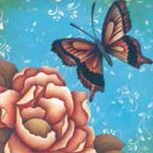 Adesivo Decoupage Flores Borboleta Lax-159 - Litocart