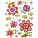 Adesivo Dimensional Glitter Flores Ad1122 Tec