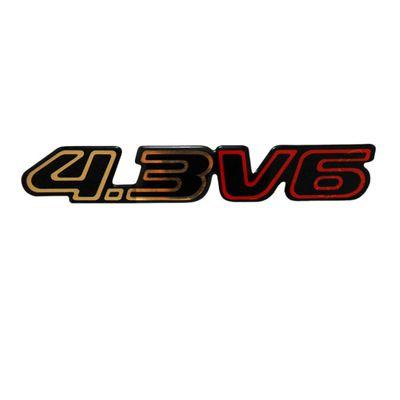 Adesivo Emblema Letreiro 4.3 V6 da Blazer e S10 1996 a 2011 Novo Modelo Ouro