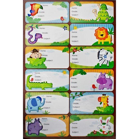 Adesivo Etiquetas Puffy Animais Ad1557 - Toke e Crie