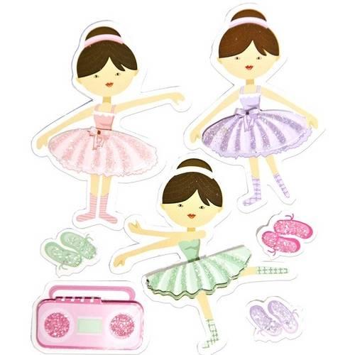 Adesivo FM C/Glitter Bailarinas AD1345 Toke e Crie