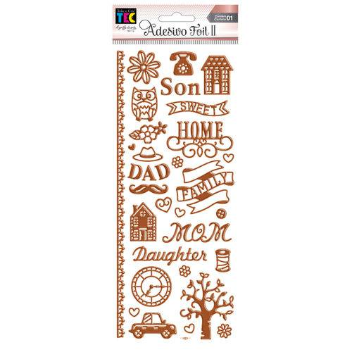 Adesivo Foil Ii Toke e Crie Sweet Home Rosê Ad1901 20692