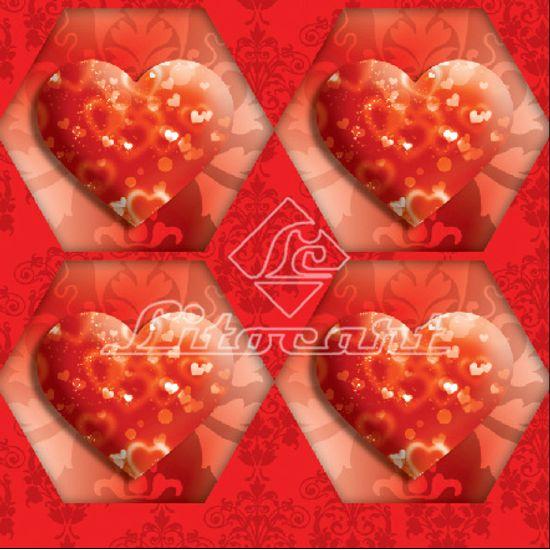 Adesivo Hexagonal C/Glitter Litocart LAHG-02 Papel Adesivo Decoupage Hexagonal C/Glitter Litocart LAHG-02