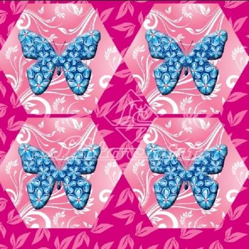 Adesivo Hexagonal C/Glitter Litocart LAHG-04