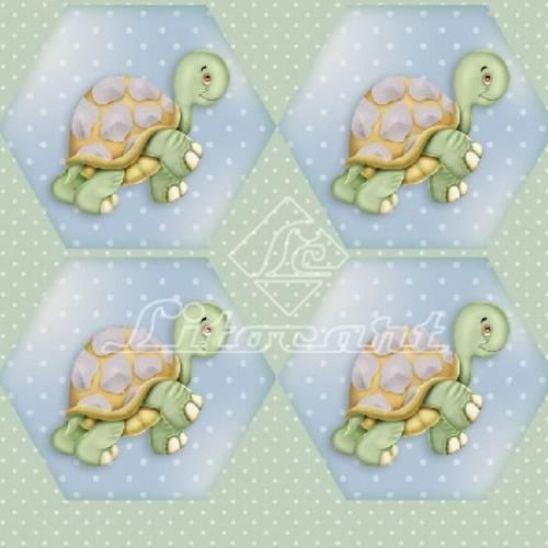 Adesivo Hexagonal C/Glitter Litocart LAHG-07
