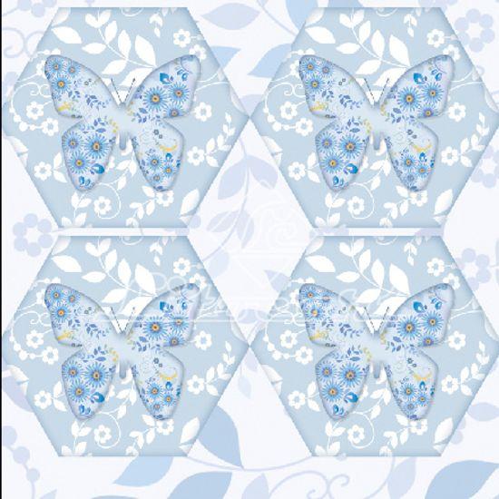 Adesivo Hexagonal C/Glitter Litocart LAHG-09 Papel Adesivo Decoupage Hexagonal C/Glitter Litocart LAHG-09