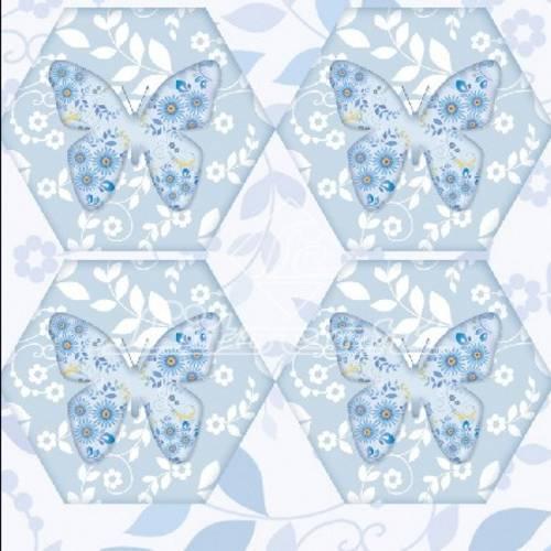 Adesivo Hexagonal C/Glitter Litocart LAHG-09