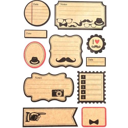 Adesivo Kraft Mustache AD1613 - Toke e Crie