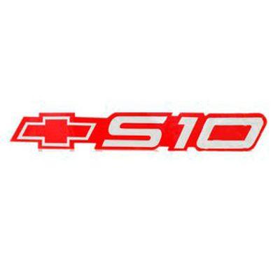 Adesivo Lateral S10 com Gravata Chevrolet Vermelho