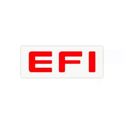 Adesivo Letreiro EFI Vermelho - Monza 1991 a 1996 Kadett Ipanema 1989 a 1998