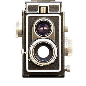 Adesivo Olho Mágico Camera Retrô