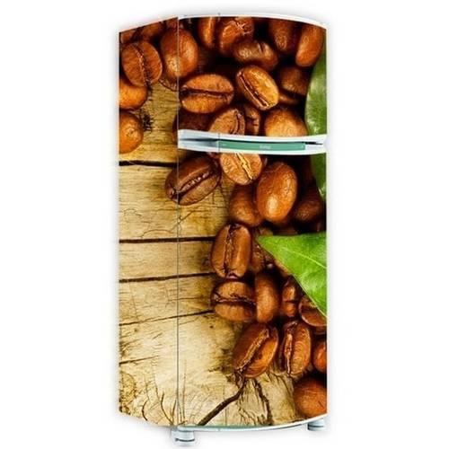 Adesivo para Envelopamento de Geladeira Toda - Café