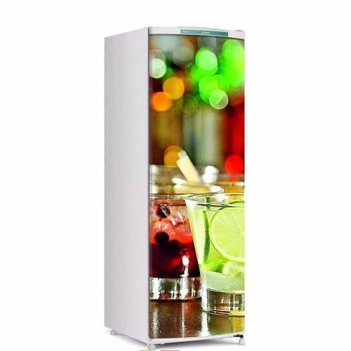 Adesivo para Geladeira Bebidas para Envelopamento de Porta