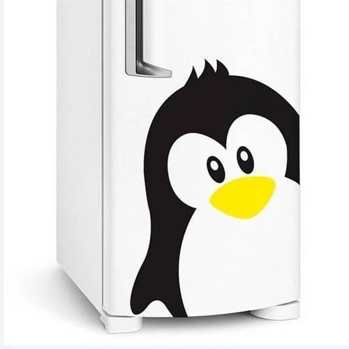 Adesivo para Geladeira Pinguim de Moicano