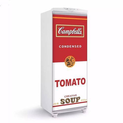 Adesivo para Geladeira Sopa Campbells para Envelopamento de Porta