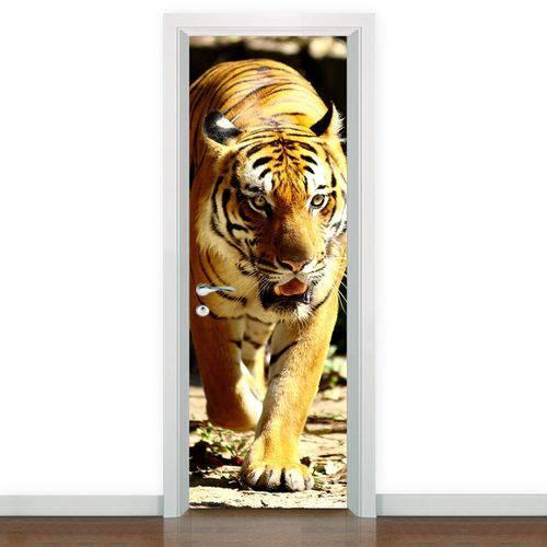 Adesivo para Porta Tigre Andando