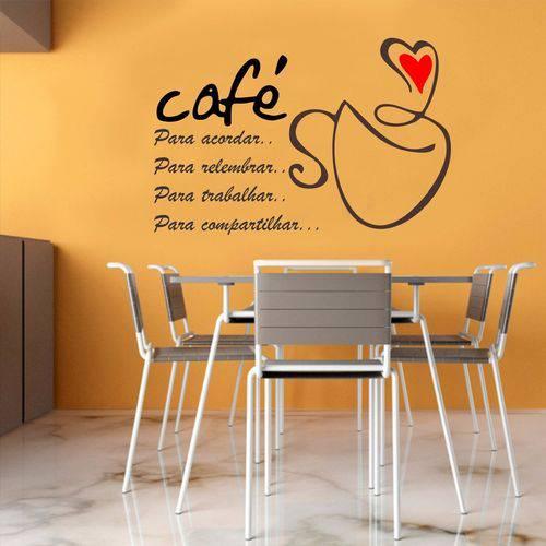 Adesivo Parede Cozinha Café Amor