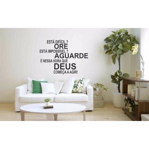 Adesivo Parede Fé Deus Esperança Quarto Decoração Sala